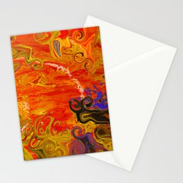 Orange Emotion Stationery Cards