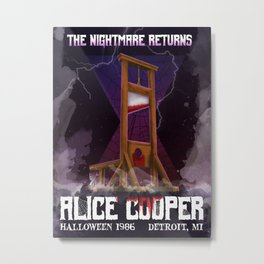 The Nightmare Returns Metal Print