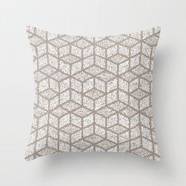 Kenna (Light Grey) Throw Pillow