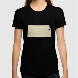 Kansas City, Kansas Love Map Art T-shirt