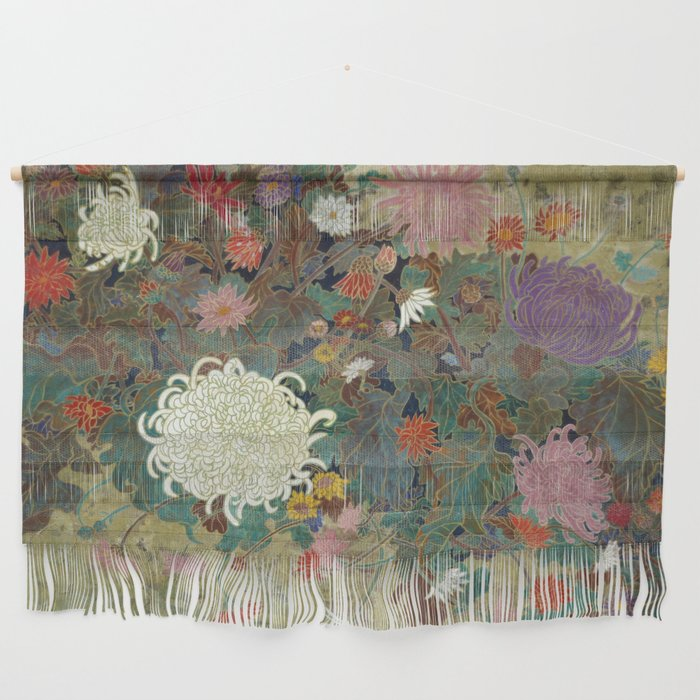flower【Japanese painting】 Wall Hanging