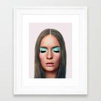 makeup Framed Art Prints featuring Makeup by Rachel De Vita