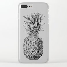 Pineapple, tropical fruit illustration Clear iPhone Case