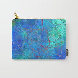 Rome Italy Street Map Blue Lagoon Carry-All Pouch