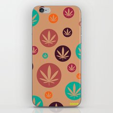 GGDUB - Burnt Orange Weed Leaf Textile~  iPhone & iPod Skin
