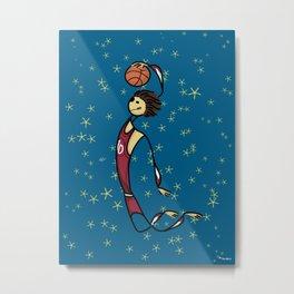 Basket player Metal Print