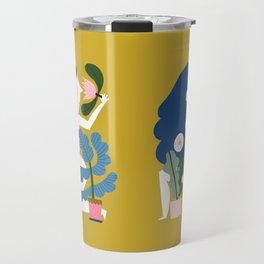 Blue Plant Lady Travel Mug