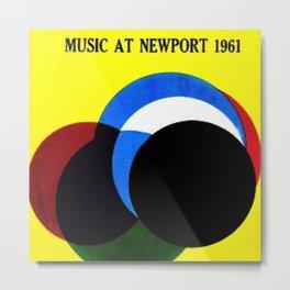 1961 Newport Jazz Festival Vintage Advertisement Poster Newport, Rhode Island Metal Print