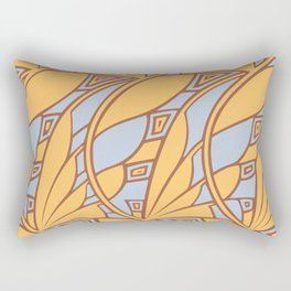 Modern art nouveau tessellations gamboge azure Rectangular Pillow