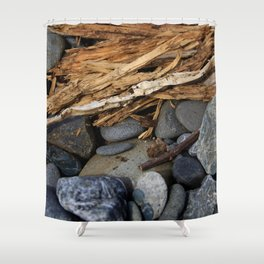 Rocks and Kindling Shower Curtain