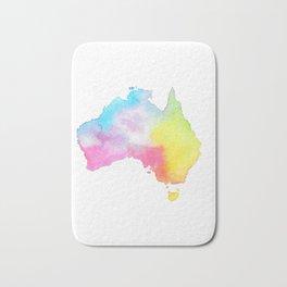 Australia | Map Illustration Bath Mat