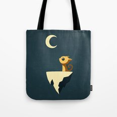 Moon Cat Tote Bag
