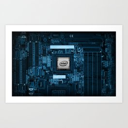 Intel Motherboard Art Print