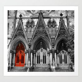 Cathedral in Baltimore Art Print