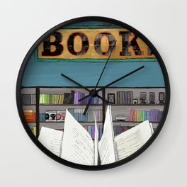 Puzzle Library Books Reader Wall Clock