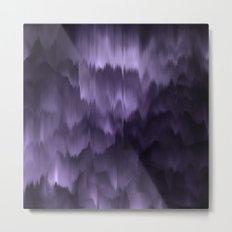 Purple and black. Abstract. Metal Print