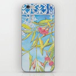 Goldfields Filigree - watercolour of eucalyptus & ironwork iPhone Skin