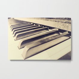Old Piano Keys Metal Print