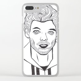 Louis Tomlinson Art Clear iPhone Case