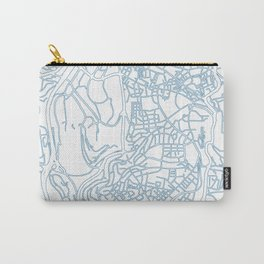 Street MAP Johannesburg // Blue Carry-All Pouch