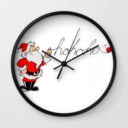 Santa's hohoho Wall Clock