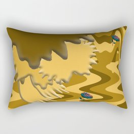 Shades of Brown Waves Rectangular Pillow