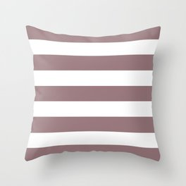 Bazaar - solid color - white stripes pattern Throw Pillow