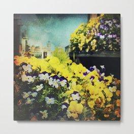 Behind the flowers Metal Print