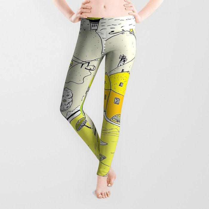 Lemon paradise Leggings