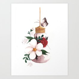 Unexpected Terrarium Moth Art Print