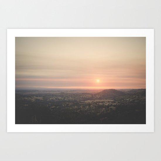 Californian Sunset Art Print