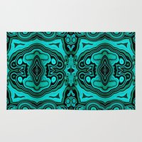 malachite Area & Throw Rugs featuring Malachite in its rough form by BURPdesigns