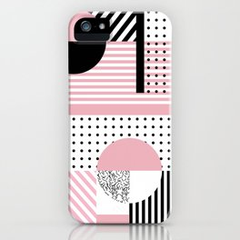 Pink Memphis iPhone Case