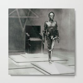 Metropolis poster print vintage photograph science fiction sci-fi cult classic film black and white movie still photograph Metal Print