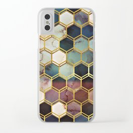 RUGGED MARBLE Clear iPhone Case