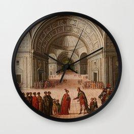 Circle of Juan de la Corte - The Meeting of Solomon and the Queen of Sheba Wall Clock