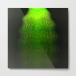 Abstract Green Weave Metal Print