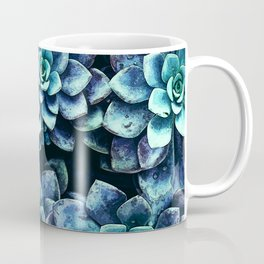 Blue And Green Succulent Plants Coffee Mug