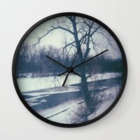 indiana Wall Clocks featuring Indiana by Mt Zion Press