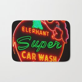 Elephant Super Car Wash Bath Mat