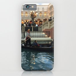 Gondola ride at the Venetian in Las Vegas Nevada iPhone Case