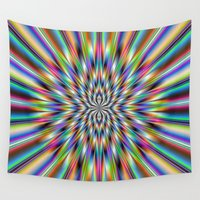 big bang Wall Tapestries featuring The Big Bang by Objowl