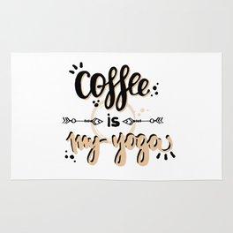 Coffee Is My Yoga Rug