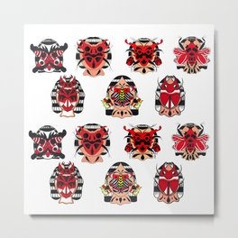 BUG FACES PATTERN 01 Metal Print