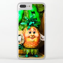 Mr. Pineapple and Friends - Singing Fruit and Veggies Clear iPhone Case