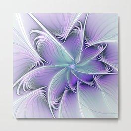 Floral Fantasy, Fractal Art Abstract Metal Print