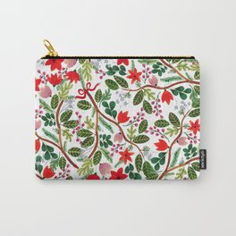 Christmas Floral Pattern Carry-All Pouch