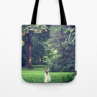 central park Tote Bags featuring Central Park by cuteladybug
