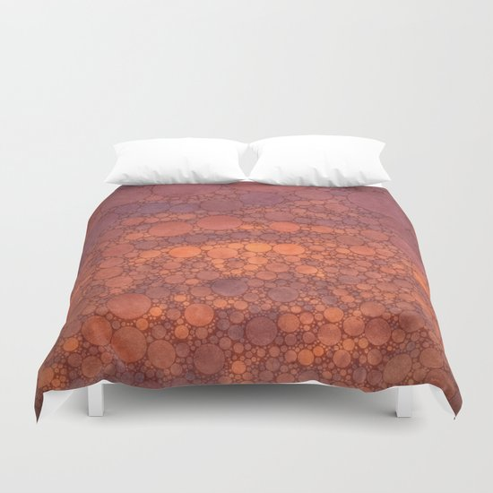 Percolated Sunset in Warm Tones Duvet Cover