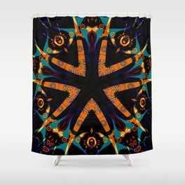 Tribal Geometric Shower Curtain